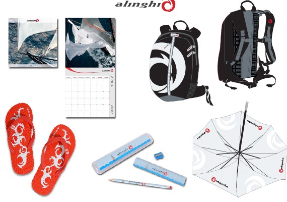 Designed graphics, product design and catalogue design for the Alinghi merchandise sold in 2006, 2007 and 2008.